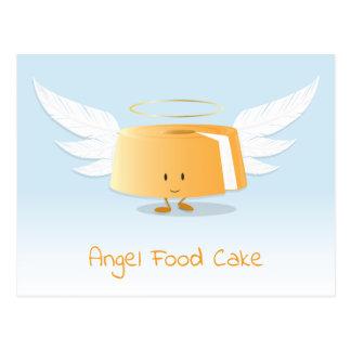Cartão do bolo de anjo |