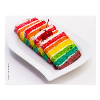 Cartão do bolo do arco-íris