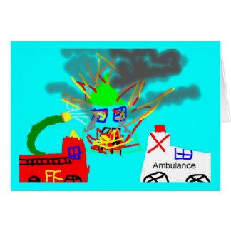cartão do bombeiro
