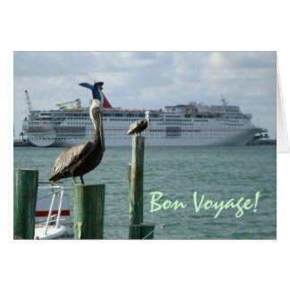 Cartão do bon voyage do no. 2 da opinião de