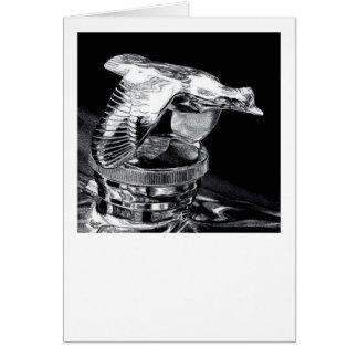 """Cartão Do """"boné de radiador das codorniz do vôo cromo em"""