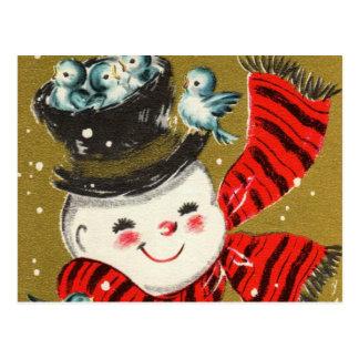 Cartão do boneco de neve  
