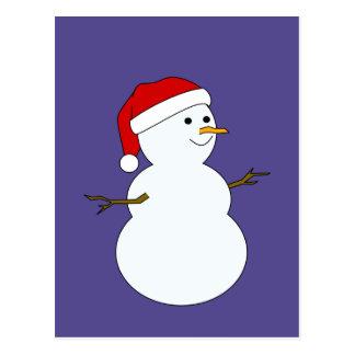 cartão do boneco de neve cartoes postais