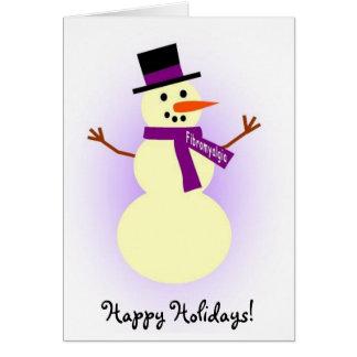 Cartão do boneco de neve da fibromialgia