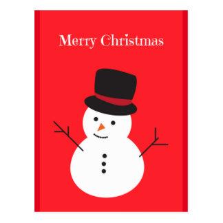Cartão do boneco de neve do Feliz Natal Cartão Postal