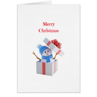 Cartão do boneco de neve do Natal