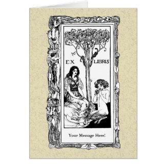 Cartão do Bookplate de Nouveau da arte