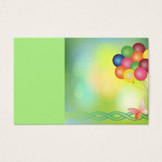 Cartão do borrão com balões