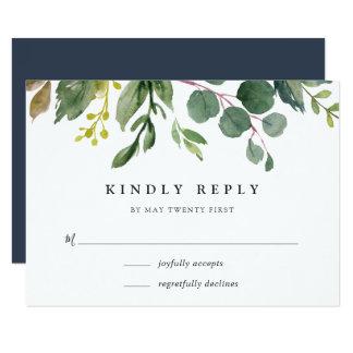 Cartão do bosque RSVP do eucalipto