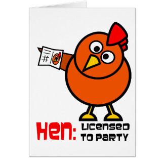 Cartão do branco da galinha do partido