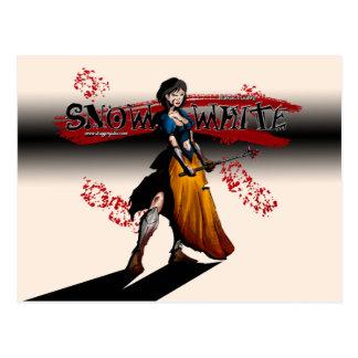 cartão do branco da neve do guerreiro