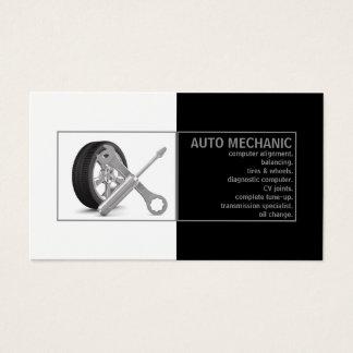 Cartão do branco do preto do serviço do auto