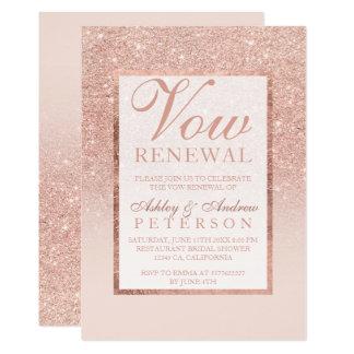 Cartão Do brilho cor-de-rosa do ouro do falso renovação