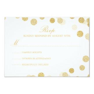 Cartão do brilho RSVP do ouro do quadro Convite 8.89 X 12.7cm