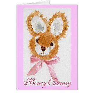 """Cartão Do """"brinquedo peluches do coelho mel"""""""