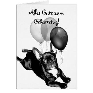 Cartão do buldogue francês de Geburtstag do zum de