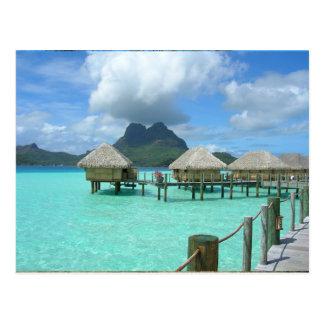 Cartão do bungalow de Bora Bora