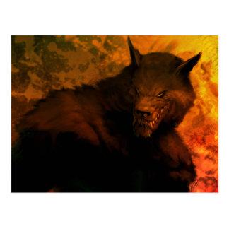 Cartão do busto do homem-lobo