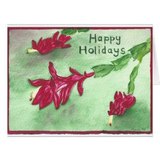 Cartão do cacto de Natal boas festas