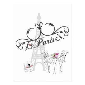 Cartão do café de Paris