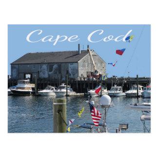 Cartão do cais de Fishermans das MÃES de Cape Cod