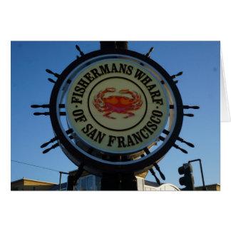 Cartão do cais de San Francisco Fishermans