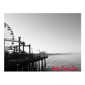 Cartão do cais de Santa Monica
