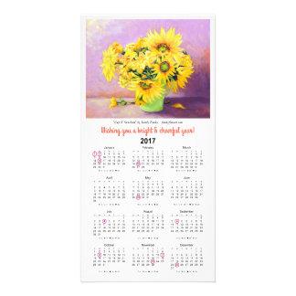 Cartão do calendário da luz do sol 2017 de O do