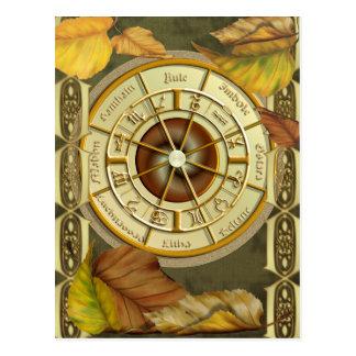 Cartão do calendário da roda 2012 de Wiccan
