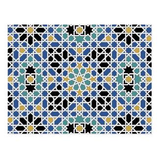 Cartão do calendário do azulejo 2012 do Moorish