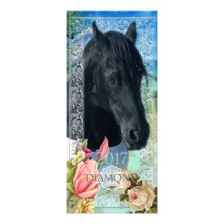Cartão do calendário do ~ do DIAMANTE do frisão 10.16 X 22.86cm Panfleto