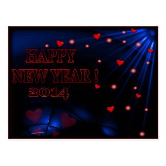 Cartão do calendário do feliz ano novo 2014 cartao postal