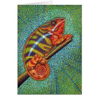 Cartão do camaleão