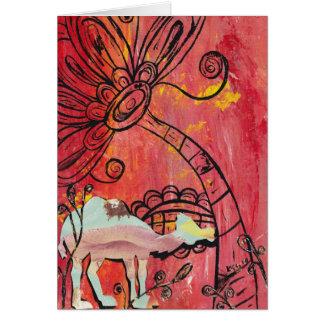 Cartão do camelo do cogumelo