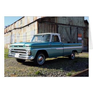 Cartão do caminhão de Chevy do vintage