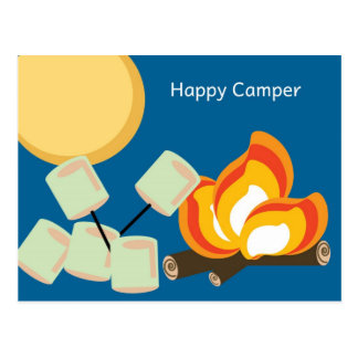 Cartão do campista feliz