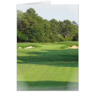 Cartão do campo de golfe