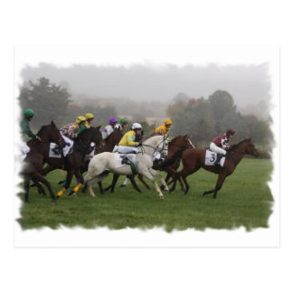 Cartão do campo do cavalo de raça
