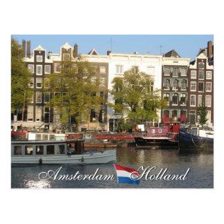 Cartão do canal de Amsterdão