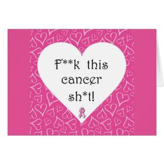 Cartão do cancer de F*ck