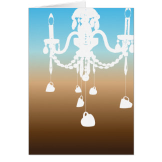 Cartão do candelabro (café do céu)
