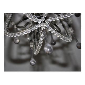 Cartão do candelabro do cristal e do grânulo