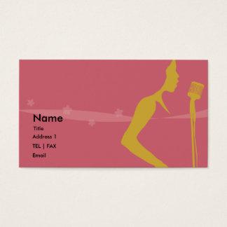 Cartão do cantor