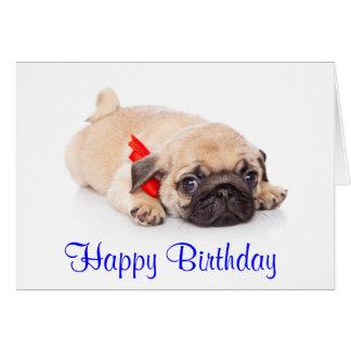 Cartão do cão de filhote de cachorro do Pug do