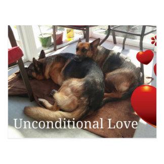 Cartão do cão de german shepherd