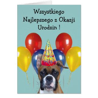 Cartão do cão do pugilista de Wszystkiego