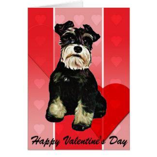 Cartão do cão do Schnauzer dos namorados
