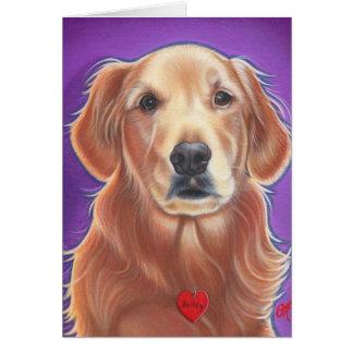 Cartão do cão selvagem do golden retriever