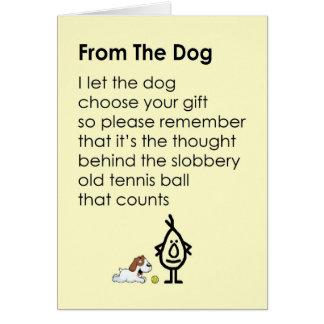 Cartão Do cão - um poema engraçado do feliz aniversario