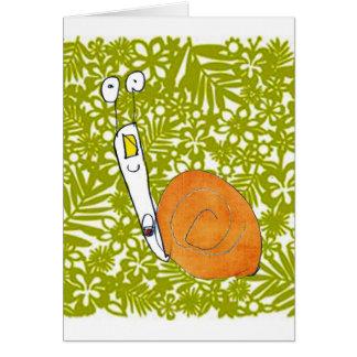 cartão do caracol pela criança